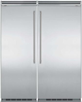 66″ Built In Side By Side Refrigerator Column Set with MP30RA2LS 30″ Left Hinge Column Refrigerator and MP36FA2RS 36″ Right Hinge Column Freezer in