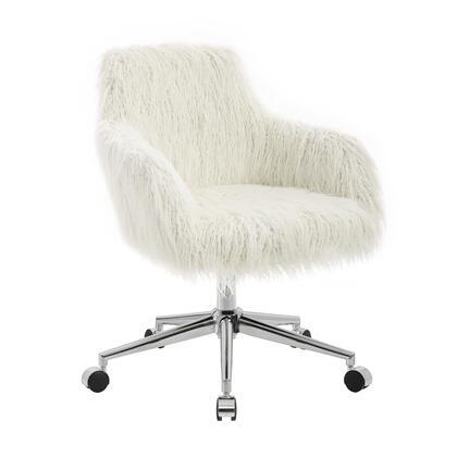 Linon Fiona OC084WHT01U Office Chair, OC084WHT01U.SL01