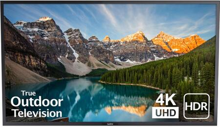 SB-V-65-4KHDR-BL 65″ Veranda Series 4K UHD Outdoor TV with HDR  Large Weatherproof Media Bay and 20W Down-Firing Speakers in