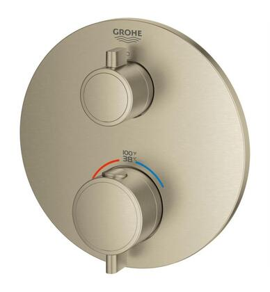 Grohtherm 24107EN0 Single Function 2-Handle Thermostatic Trim  in Brushed