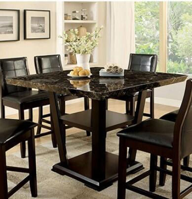 Furniture of America Clayton II CM3933PTTABLE Dining Room Table Brown, main image