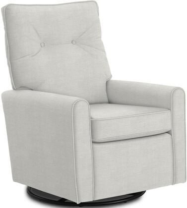 Phylicia Collection 4007-19703 Recliner with 360-Degrees Swivel Glider Metal Base  Removable Back  High Backrest  Zipper Access and Fabric Upholstery