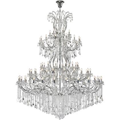 2800G120C/EC Maria Theresa 84 Light Chrome Chandelier Clear Elegant Cut