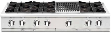 Capital Culinarian CGRT484B2 Gas Cooktop Stainless Steel, Burner Configuration