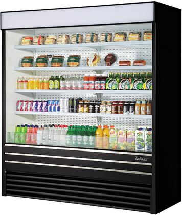 Turbo Air TOM72EBN Display and Merchandising Refrigerator Black, TOM72EBN Angled View