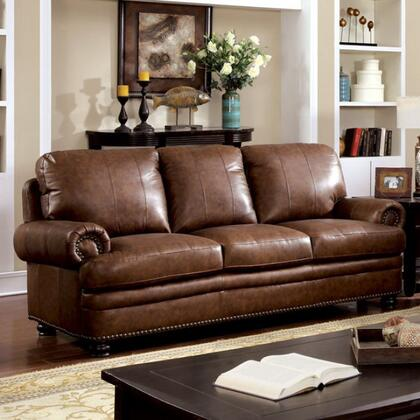 Furniture of America Reinhardt CM6318SF Stationary Sofa Brown, Main Image