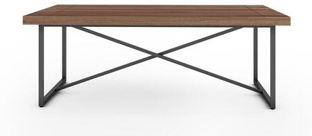 Signature Home Collection FT48ICFW X Coffee Table with Textured  Powder Coated Metal Frame  Thick MDF Top and Easy Assembly in