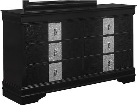 Global Furniture USA Global Furniture USA MIAMETALLICBLACKDR Dresser Black, Global Furniture USA Mia Black Dresser 406c0ac9 83a3 4af4 9a7d f705989a5b9c