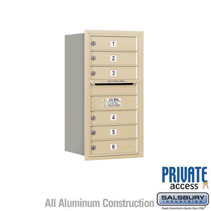 Salsbury Industries 3708S-06ZRP 4C Horizontal Mailbox Bronze