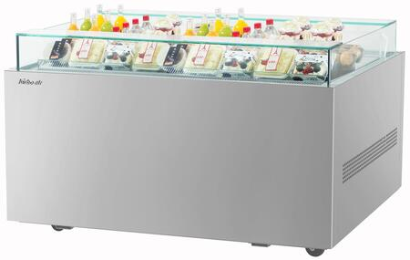 Turbo Air TOS50NNS Display and Merchandising Refrigerator Stainless Steel, TOS50NNS Angled View