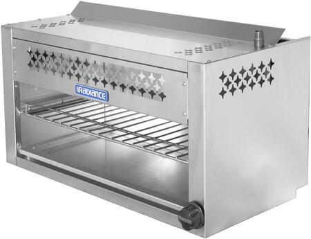 TACM-24 24″ Cheese Melter with 20 000 BTU Output  Chrome Plated Heavy Duty Rack  Infra-Red Burner and Adjustable Gas Valve in Stainless