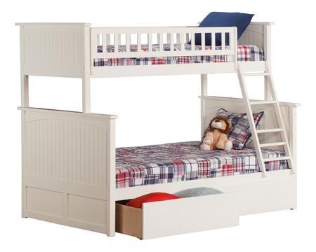 Atlantic Furniture Nantucket AB59242 Bed White, AB59242 SILO BD2 30