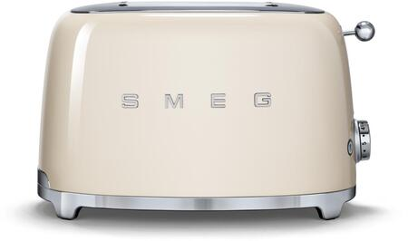 TSF01CRUS 50s Retro Style 2 Slice Toaster with 6 Browning Levels Stainless Steel Ball Lever Knob Backlit Chrome Knob Self-Centering Racks and