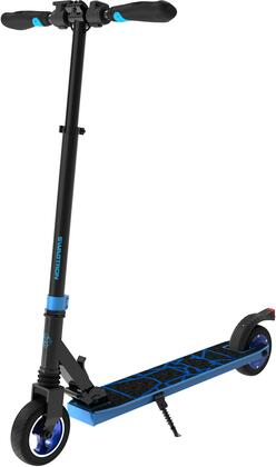 SG8BLU Swagger 8 Foldable Electric Scooter with Kick-to-Star Motor  Dual Suspensions and Maintenance-Free Rubber Tires in