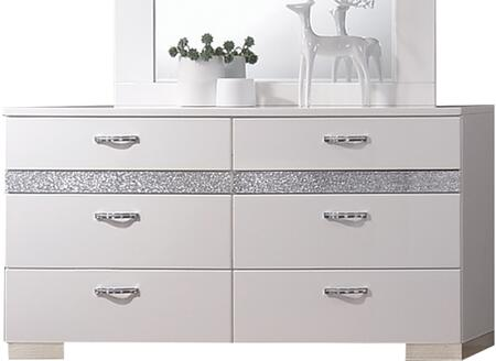 Acme Furniture Naima II 26775 Dresser White, Front View