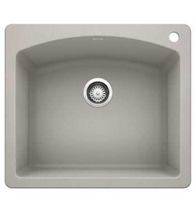 Diamond 442749 Silgranit Undermount Single Sink Bowl Dual Sink Bowl with Deck  in Concrete