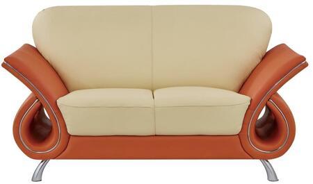 Global Furniture USA U559 U559LVL Loveseat Orange, Main Image