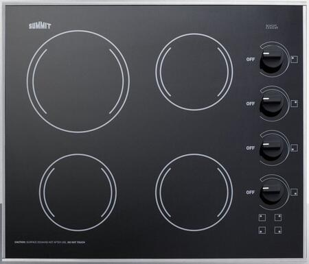 Summit  CR425BL Electric Cooktop Black, CR425BL Electric Cooktop