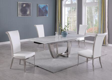 JOY-DT Contemporary Extendable Carrara Marble