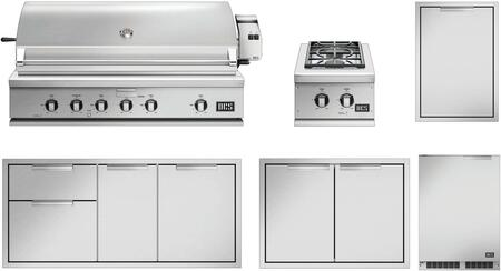 6 Piece Grill Packages with 48″ Liquid Propane Grill  15″ Liquid Propane Side Burner  48″ Access Drawer  30″ Storage Drawer  Trash Drawer and 24″