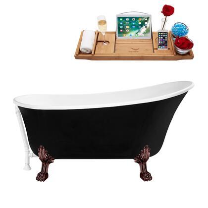 Streamline  N344ORBWH Bath Tub Black, N344ORB WH 1