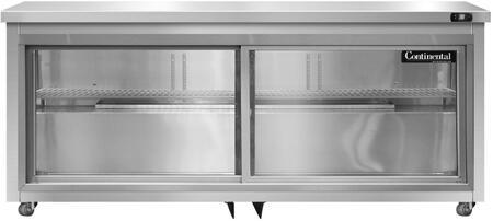 Continental Refrigerator SW72SGDU Undercounter and Worktop Refrigerator Stainless Steel, Main Image