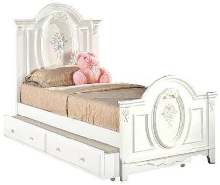 Acme Furniture Flora 01680TTRN Bed White, 1