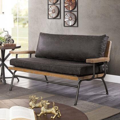 Furniture of America Santiago CM6077GYLV Loveseat Gray, cm6077gy lv 1