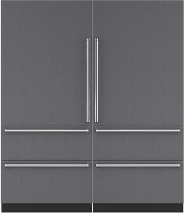 Sub-Zero Designer 710384 Refrigerator and Freezer Pairs Panel Ready, Custom Panel and Handle Not Included