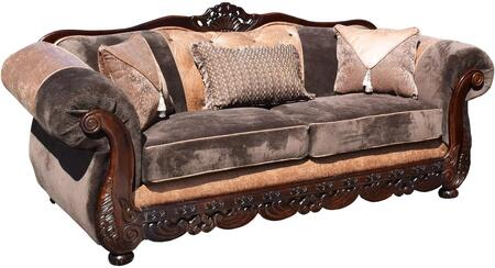 Gardena Sofa Savanah GDNCA57 Stationary Sofa Brown, 1
