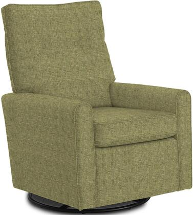 Phylicia Collection 4007-20672B Recliner with 360-Degrees Swivel Glider Metal Base  Removable Back  High Backrest  Zipper Access and Fabric