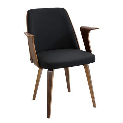 LumiSource Verdana CHVRDNAWLBK Accent Chair Black, mage 1