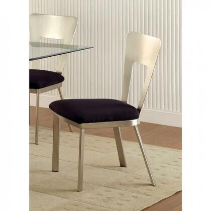 Furniture of America Nova CM3728SC2PK Dining Room Chair Silver, Main Image