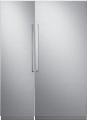 Dacor Contemporary 772355 Column Refrigerator & Freezer Set Silver Stainless Steel, 1