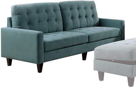 Acme Furniture Nate 50245 Stationary Sofa Blue, Main Image