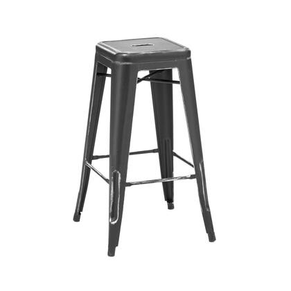 Design Lab MN Dreux LS9100BLKSLV Bar Stool Black, 4c22194a fda6 4477 9080 65f5d241e220