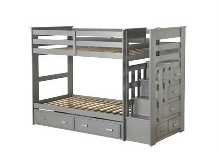 Allentown Collection 37870 Bunk Bed & Trundle (Twin/Twin & Storage) in Gray