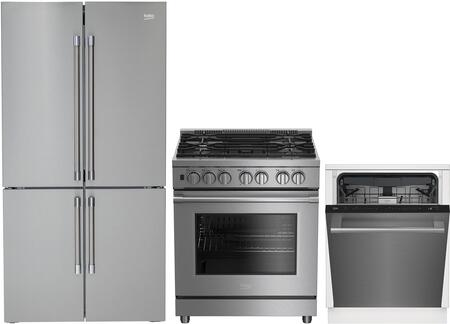 Beko  1282107 Kitchen Appliance Package Stainless Steel, Main image