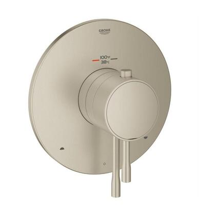 GrohFlex Essence 19988EN1 Single Function Thermostatic Trim with Control Module  in Brushed