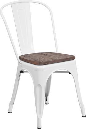 Flash Furniture CH31230 CH31230WHWDGG Patio Chair White, CH31230WHWDGG side