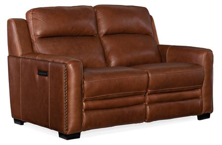 Hooker Furniture MS Series SS631P2078 Loveseat Red, Silo Image