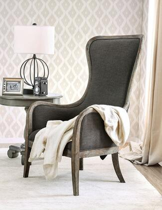 Furniture of America Charlottestown CMAC6078 Accent Chair Gray, Main Image