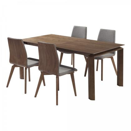 Armen Living Treviso SETTVDIWAACGY Dining Room Set Brown, Main View