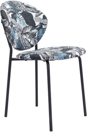 101522 Clyde Chair Leaf Multicolor  (Set of