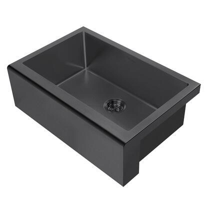Whitehaus Noah Plus WHNPL3020MBLK Sink Black, Main Image