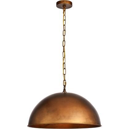 LD6013D20BR Merce 1 Light 20 inch Manual Brass Pendant Ceiling