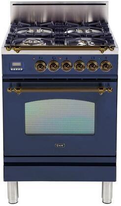 Ilve Nostalgie UPN60DVGGBLY Freestanding Gas Range , UPN60DVGGBLY Nostalgie Gas Range