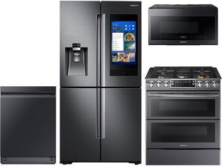 Samsung 978050 4 piece Black Stainless Steel Kitchen Appliances Package