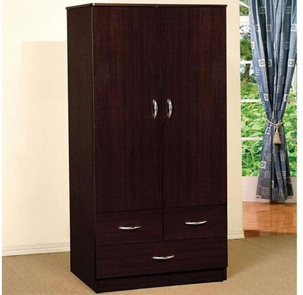 Acme Furniture Yorktown 02241 Wardrobe Brown, Wardrobe