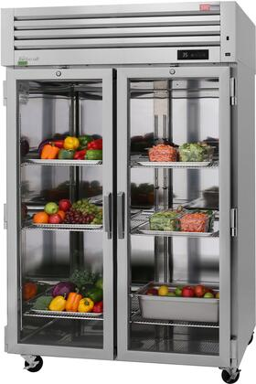 PRO-50R-G-N 52″ Pro Series Glass Door Reach-In Refrigerator with 48.7 cu. ft. Capacity  Self-Cleaning Condenser  Digital Temperature Control &